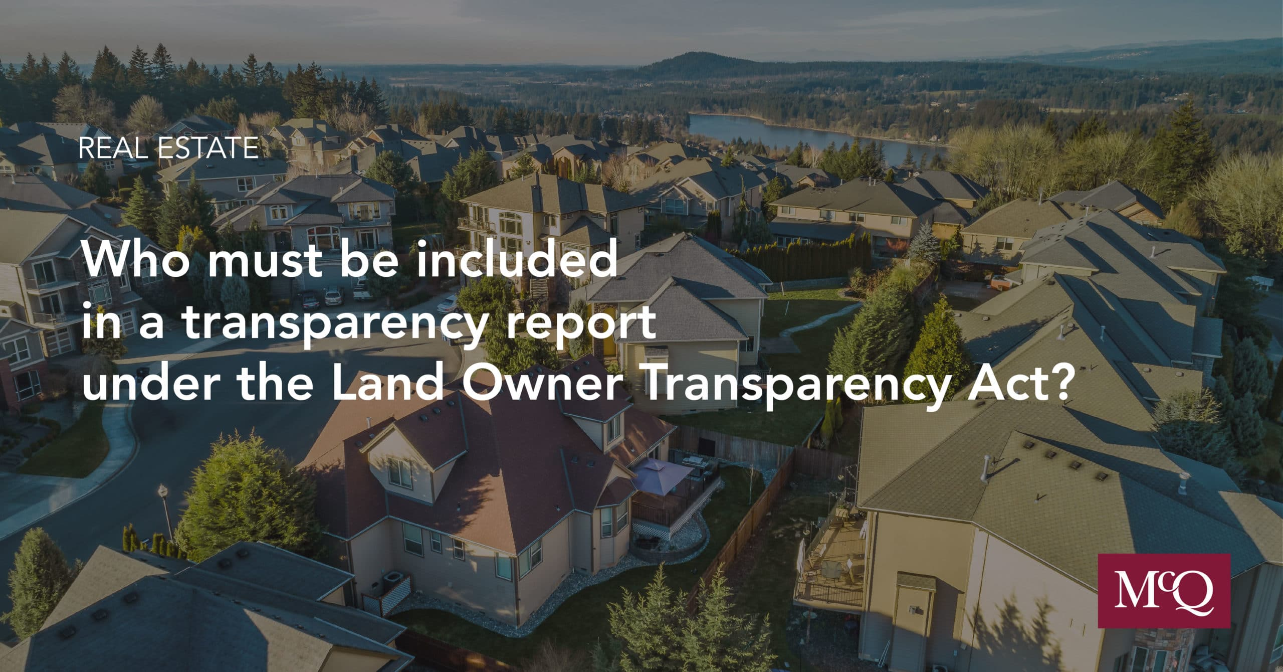 Land Owner Transparency Act Real Estate Law Blog